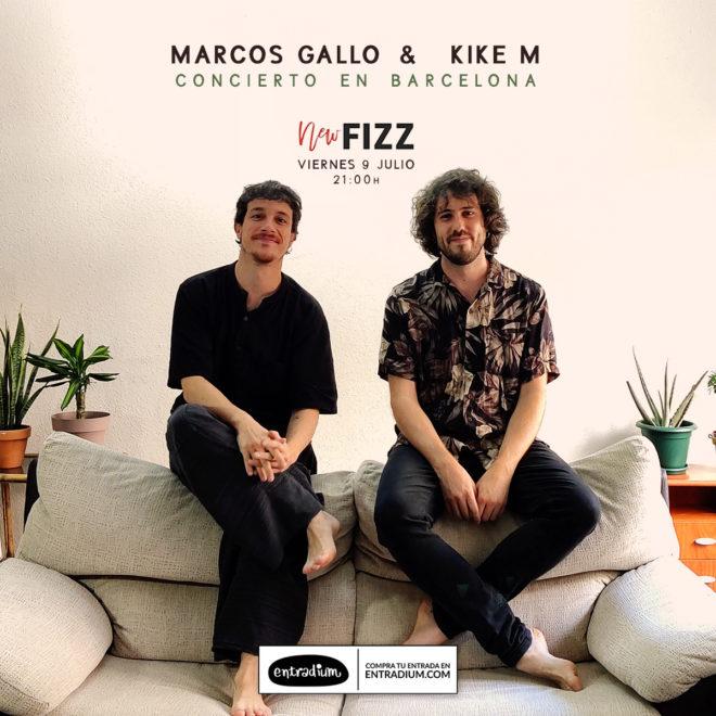 Kike M y Marcos Gallo en Barcelona